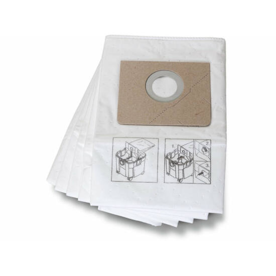 Filc porzsák  (durvább porokhoz és általános szennyeződéshez, 5 db/cs.)