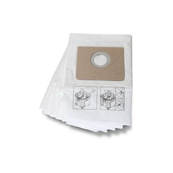 Prémium filc porzsák - erősebb anyag és erősített varrás a finom és abrazív porokhoz, 5db/cs.