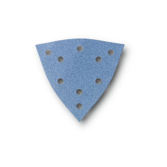 Csiszolópapír Zirkon - lyukasztott, háromszög alakú-  K80, 12db/cs.