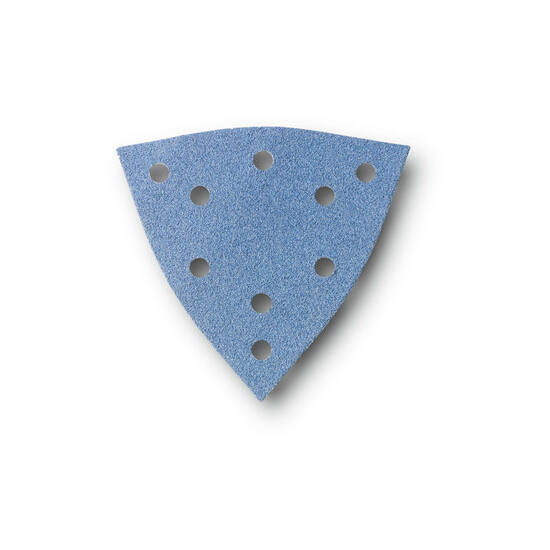 Csiszolópapír Zirkon - lyukasztott, háromszög alakú - K40, 12db/cs.